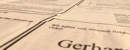 Zeitungsanzeigen